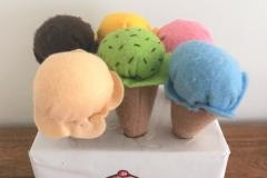 Felt ice cream cones